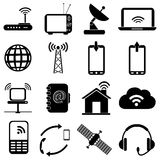 Wireless network icons set Royalty Free Stock Photography