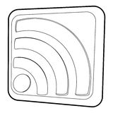 Wireless network sign icon, isometric 3d style Royalty Free Stock Images