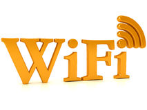 Wireless network sign over white Royalty Free Stock Photography