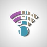 Wireless network symbol Stock Photos