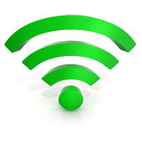 Wireless network symbol. Front view Stock Photography