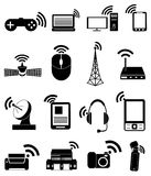 Wireless network technology icons set Stock Images