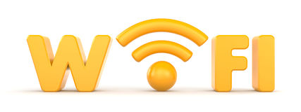 Wireless Network. Wifi. Communication concept Stock Photography