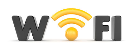 Wireless Network. Wifi. Communication concept. Separated on white Stock Photography