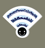 Wireless Network wifi icon, vector illustration. File eps10 Royalty Free Stock Photography