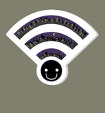 Wireless Network wifi icon, vector illustration. File eps10 Royalty Free Stock Photos