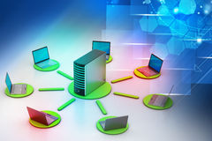 Wireless networking system Royalty Free Stock Photos