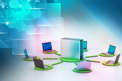 Wireless networking system Stock Photos