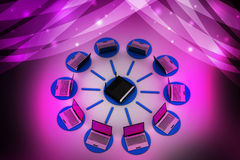 Wireless networking system Stock Images