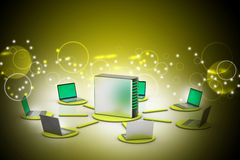 Wireless networking system Royalty Free Stock Photo