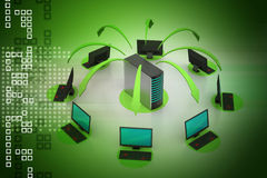 Wireless networking system Royalty Free Stock Images
