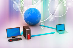 Wireless networking system Stock Photo