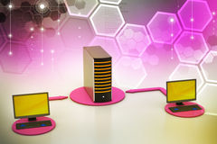 Wireless networking system Stock Photography