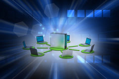 Wireless networking system. In color background Stock Images