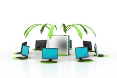 Wireless networking system Stock Photo