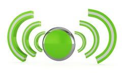 Wireless online icon Royalty Free Stock Photos