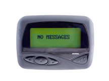 Wireless Pager. Used to send and receive email,messages,sports,financial,and weather news. (14MP camera, isolated Stock Images