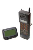 Wireless Pager And Cell-phone . Royalty Free Stock Images