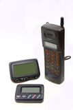 Wireless pager and cell-phone Stock Photos