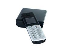 Wireless phone isolated. On white background stock image