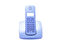 Wireless Phone Over White Background Royalty Free Stock Photo