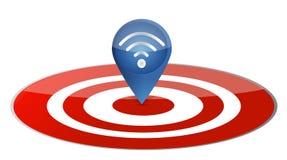 Wireless pointer on target board illustration Stock Photo