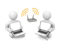 Wireless presentation Royalty Free Stock Photo