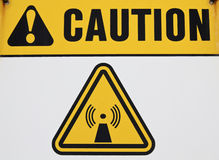 Wireless radiation sign Royalty Free Stock Images
