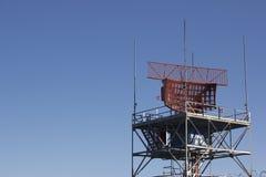 Wireless radio antennas with clouds Stock Image