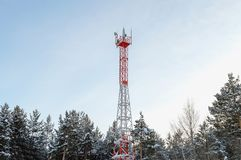 Wireless relay over-the-air cellular communication. New stock photography
