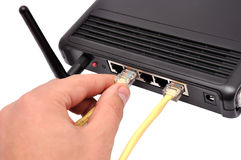 Wireless router Royalty Free Stock Image
