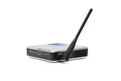 Wireless router. On a white background Royalty Free Stock Photo