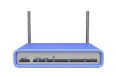 Wireless router. On white background Stock Photos