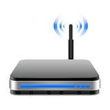 Wireless  Router  with  the antenna illustration Royalty Free Stock Image
