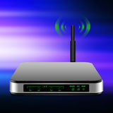 Wireless Router with the antenna illustration Stock Photo