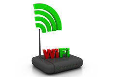 Wireless router. 3d render of wireless router Stock Photo