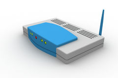Wireless router. 3d rendering of Wireless router in white background vector illustration