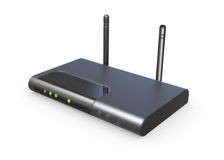 Wireless router isolated 3d model Stock Photography