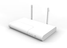 Wireless router isolated 3d model Royalty Free Stock Photos