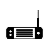 Wireless router isolated icon Stock Photos