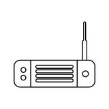 Wireless router isolated icon Royalty Free Stock Photography