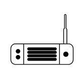 Wireless router isolated icon Royalty Free Stock Photo