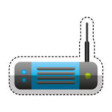 Wireless router isolated icon Royalty Free Stock Images