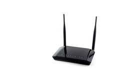 Wireless router. Isolated on white Stock Photography