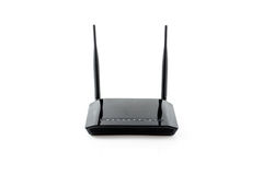 Wireless router. Isolated on white Royalty Free Stock Images