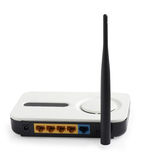 Wireless router isolated Stock Images