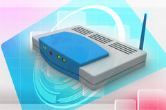 Wireless router Royalty Free Stock Photos