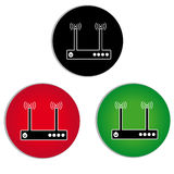 Wireless router line icon for infographics on white background. Vector illustration Royalty Free Stock Photos