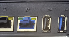 Wireless router ports Royalty Free Stock Photos