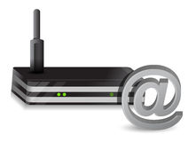 Wireless Router at sign Stock Photos